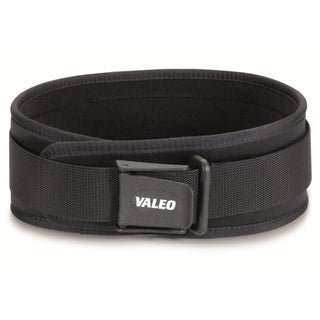 EB Brands Valeo Brushed Tricot Black Competition Classic 6-inch Lifting Belt