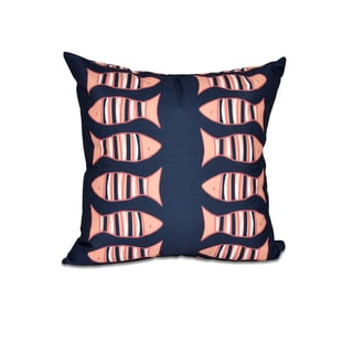 16 x 16-inch Something's Fishy Animal Print Outdoor Pillow