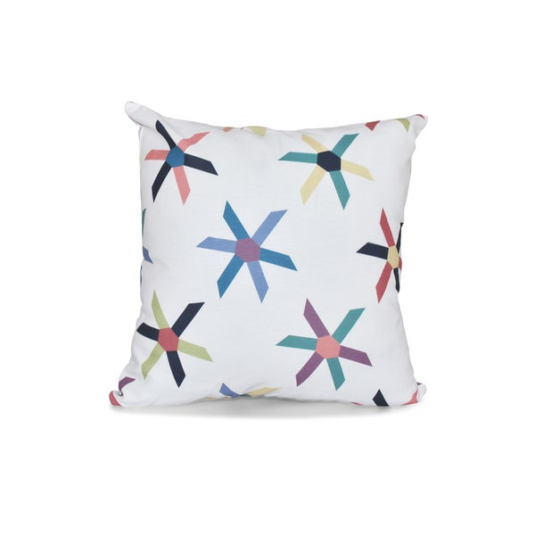16 x 16-inch Pinwheel Pop Geometric Print Outdoor Pillow