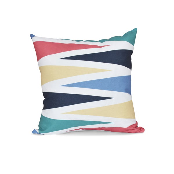 16 x 16-inch Backgammon Geometric Print Outdoor Pillow