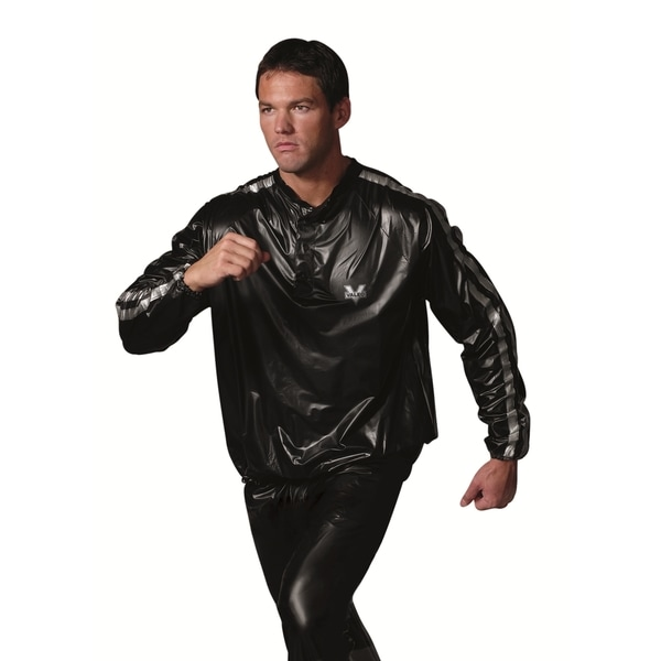 EB Brands Valeo Black/Silver Stripe Sauna Suit