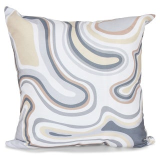 16 x 16-inch Agate Geometric Print Outdoor Pillow