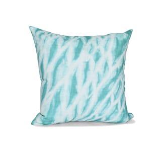 16 x 16-inch Shibori Stripe Geometric Print Outdoor Pillow