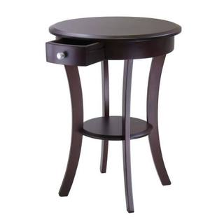 Winsome Sasha Cappuccino Wood Home Decor Living Room Round Accent Table