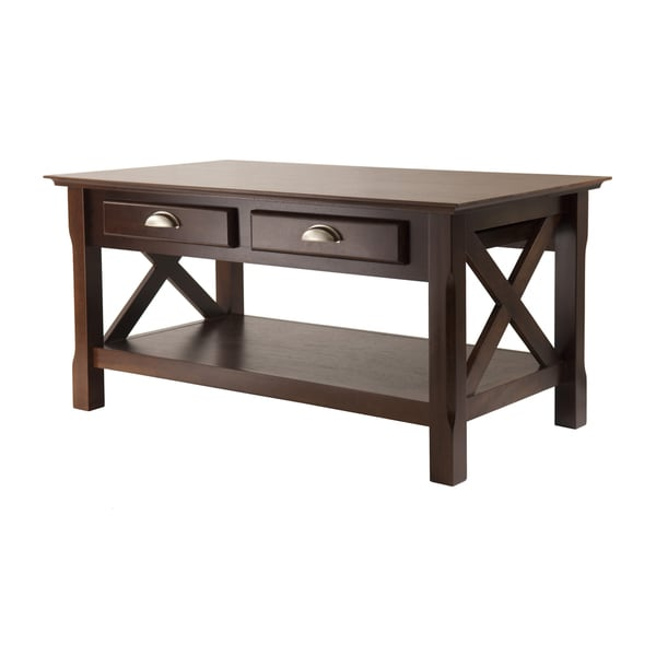 Porch & Den Melwood X-design 2-drawer Coffee Table