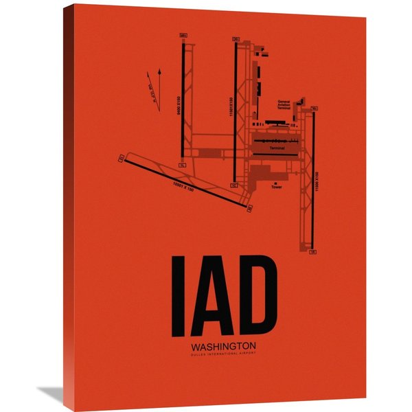 Shop Naxart Studio 'IAD Washington Airport' Orange