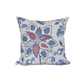 16 x 16-inch Paisley Pop Floral Print Outdoor Pillow