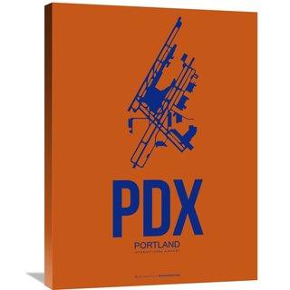 Naxart Studio 'PDX Portland Poster 1' Stretched Canvas Wall Art