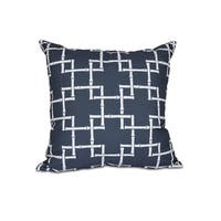 16 x 16-inch Bamboo 1 Geometric Print Outdoor Pillow