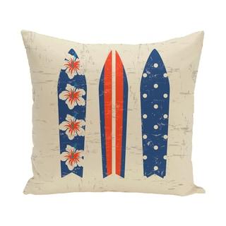 16 x 16-inch Triple Surf Geometric Print Outdoor Pillow
