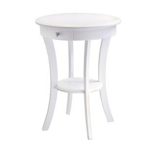 Winsome Sasha Home Decor Round Accent Table with Drawer
