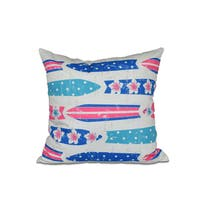 16 x 16-inch Dean Geometric Print Outdoor Pillow