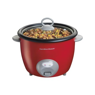 Hamilton Beach 37538N Red Aluminum 20-cup Capacity Ensemble Rice Cooker