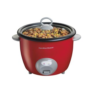 Hamilton Beach Red 20 Cup Ensemble Rice Cooker