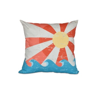 16 x 16-inch Sunbeams Geometric Print Outdoor Pillow