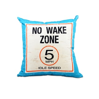 16 x 16-inch No Wake Word Print Outdoor Pillow