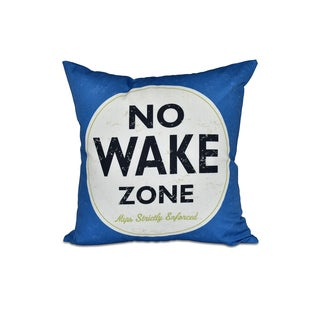 16 x 16-inch Nap Zone Word Print Outdoor Pillow