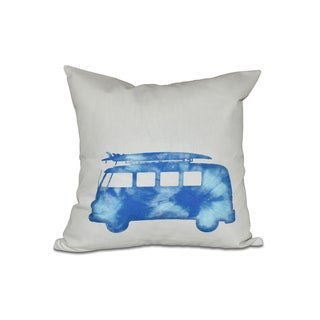 16 x 16-inch BeachDrive Geometric Print Outdoor Pillow
