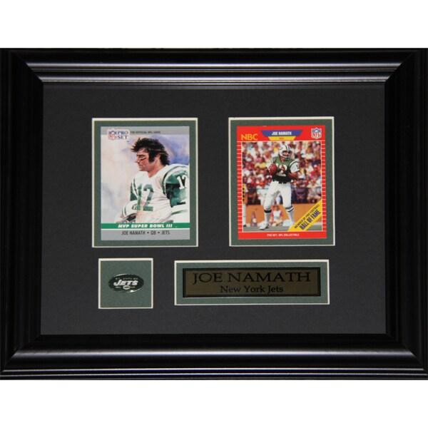 Joe Namath New York Jets 2-Card Frame