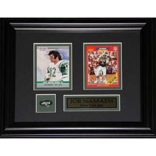 Joe Namath New York Jets 2-Card Frame
