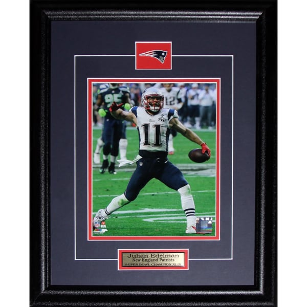 b9ee8a01d8d Shop Julian Edelman New England Patriots Superbowl XLIX 8-inch x 10-inch  Frame - Free Shipping Today - Overstock - 12014405