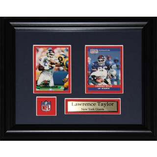 Lawrence Taylor New York Giants 2-card Frame