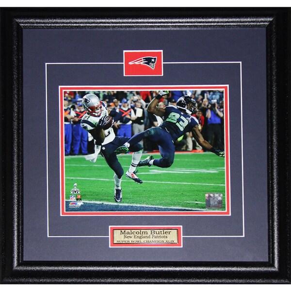 Malcolm Butler New England Patriots Superbowl XLIX Game Winning Interception 8-inch x 10-inch Frame