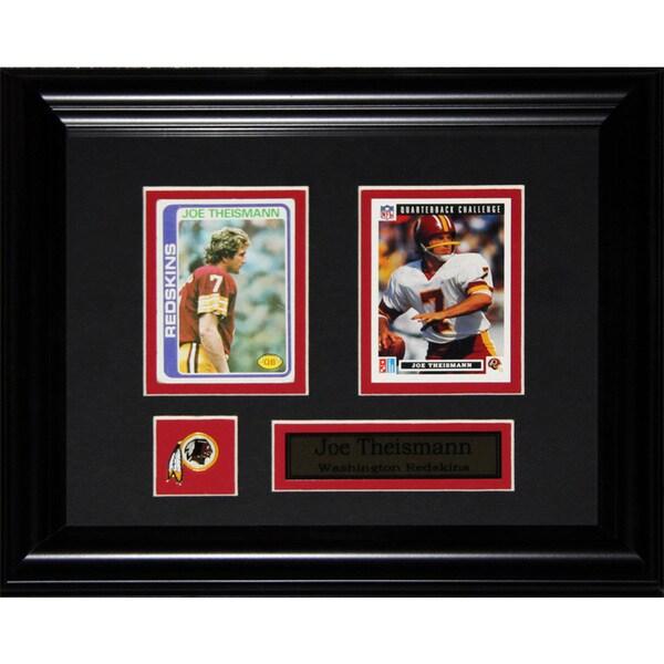 Joe Theismann Washington Redskin NFL 2-card Frame