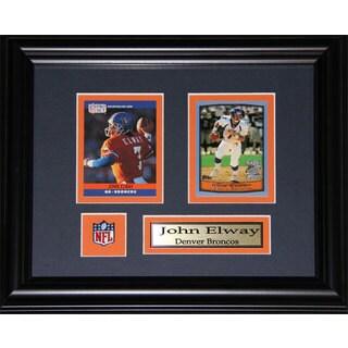 John Elway Denver Broncos 2-card Frame