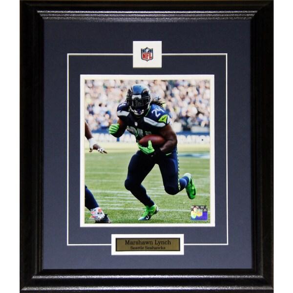 Seattle Seahawks Marshawn Lynch 8-inch x 10-inch Framed Wall Plaque