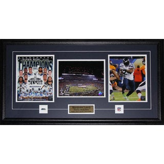 Seattle Seahawks Marshawn Lynch Superbowl XLVIII 3-photo Framed Wall Plaque