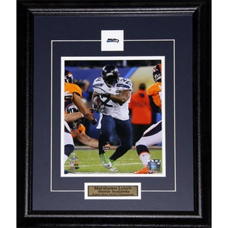 Seattle Seahawks Marshawn Lynch Superbowl XLVIII 16-inch x 20-inch Frame