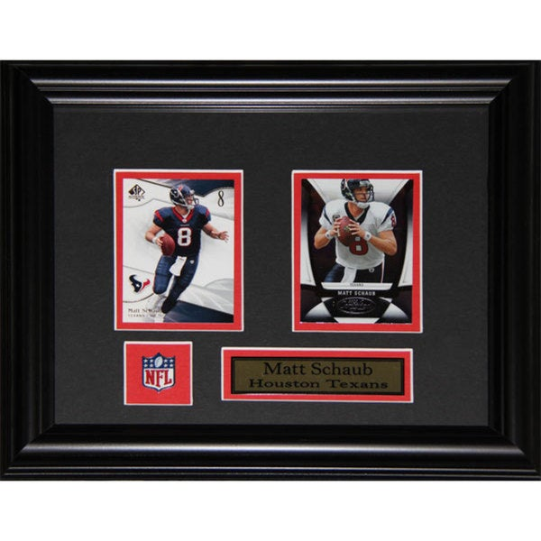 Houston Texans Matt Schaub Two-Card Frame