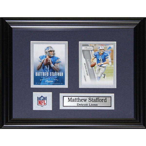 Detroit Lions Matthew Stafford 12.5-inch x 10.5-inch 2-card Frame
