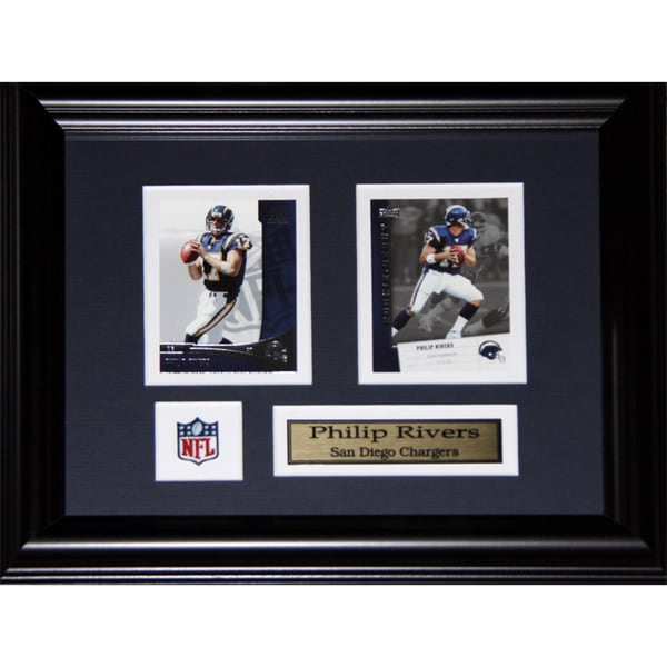 Philip Rivers San Diego Chargers 2-card Frame