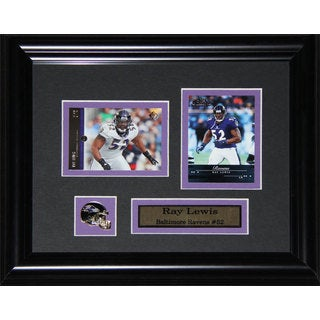 Baltimore Ravens Ray Lewis 2-card Framed Wall Plaque