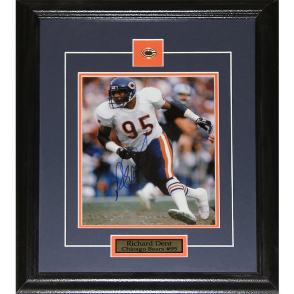 Chicago Bears Richard Dent Signed 8-inch x 10-inch Framed Wall Plaque