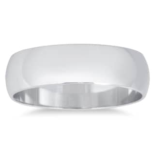 Marquee Jewels 14k White Gold Domed Wedding Band