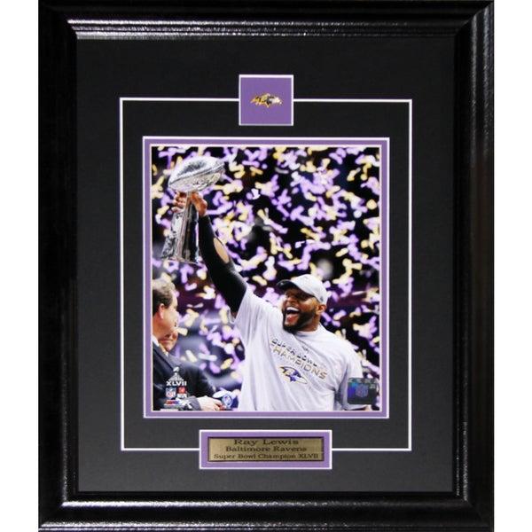 Ray Lewis Baltimore Ravens Superbowl XLVII 8-inch x 10-inch Frame