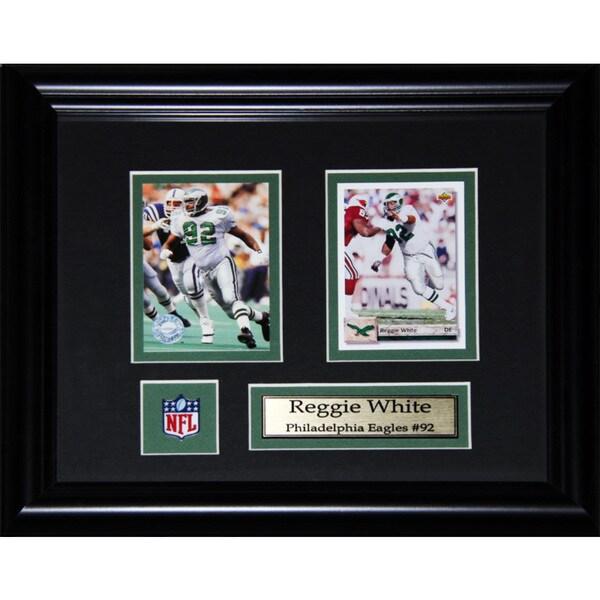 Reggie White Philadelphia Eagles 2-card Frame