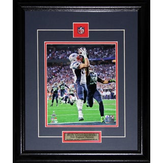 New England Patriots Rob Gronkowski Superbowl XLIX 8-inch x 10-inch Framed Wall Plaque