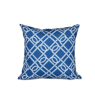 16 x 16-inch Know the Ropes Geometric Print Outdoor Pillow