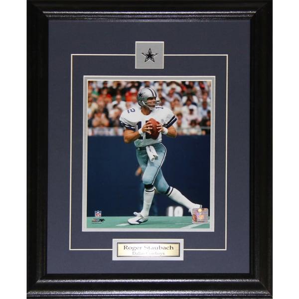 Dallas Cowboys Roger Staubach 8-inch x 10-inch Framed Wall Plaque