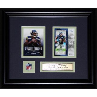 Russell Wilson Seattle Seahawks 2-card Frame