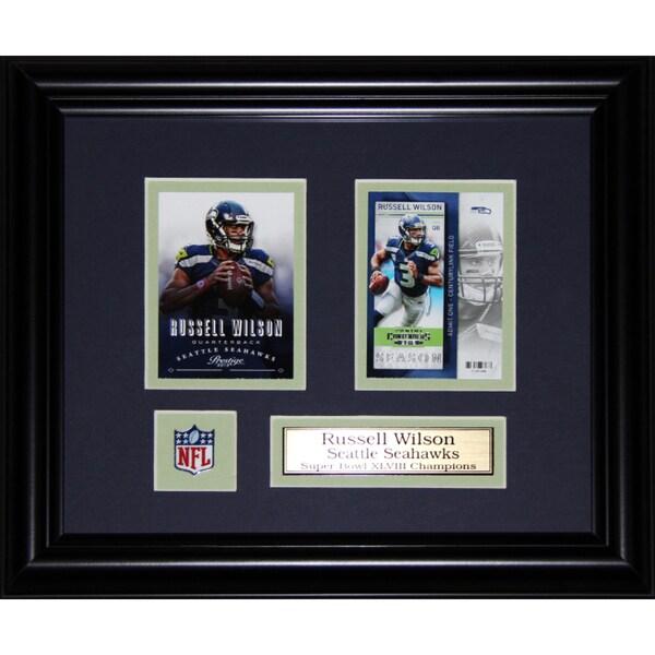 Russell Wilson Seattle Seahawks 2-card Frame