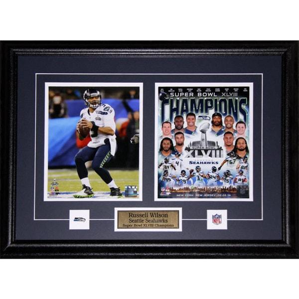 Russell Wilson Seattle Seahawks Superbowl XLVIII 2-photo Frame