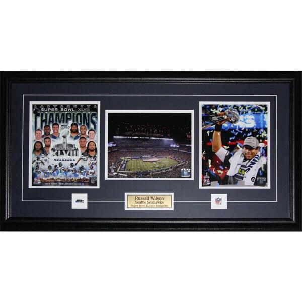 Seattle Seahawks Superbowl XLVIII Russell Wilson 3-photo Frame