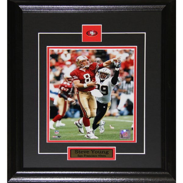 San Francisco 49ers Steve Young 8-inch x 10-inch Framed Wall Plaque