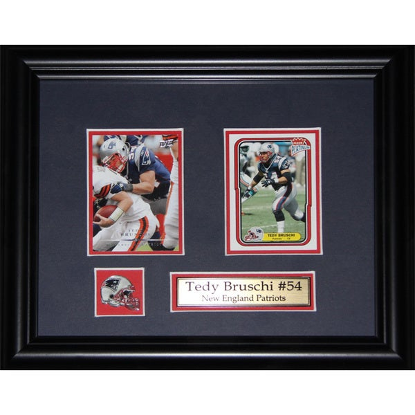 Tedy Bruschi New England Patriots NFL 2-card Frame