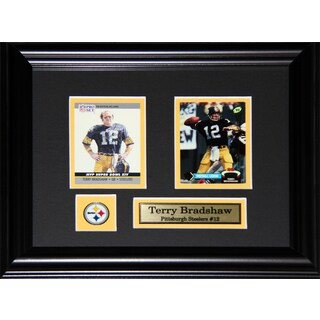 Pittsburgh Steelers Terry Bradshaw 2-card Framed Wall Plaque